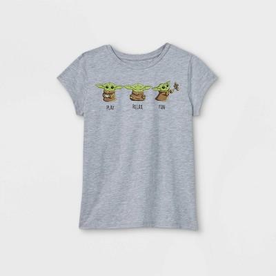 Girls' Star Wars Play Relax Fun Short Sleeve T-Shirt - Gray