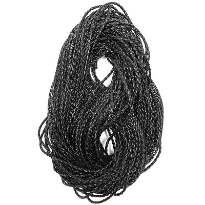 55 Yards, 3mm Faux Suede Leather Cord String Braided Rope Thread for Jewelry Making Lacing Bracelet Necklace Beading DIY Crafts, Black