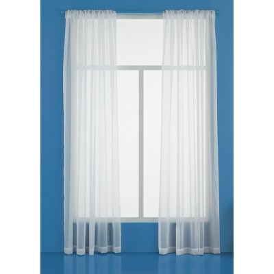 60 x84  Sheer Window Curtain Panels White - Room Essentials™