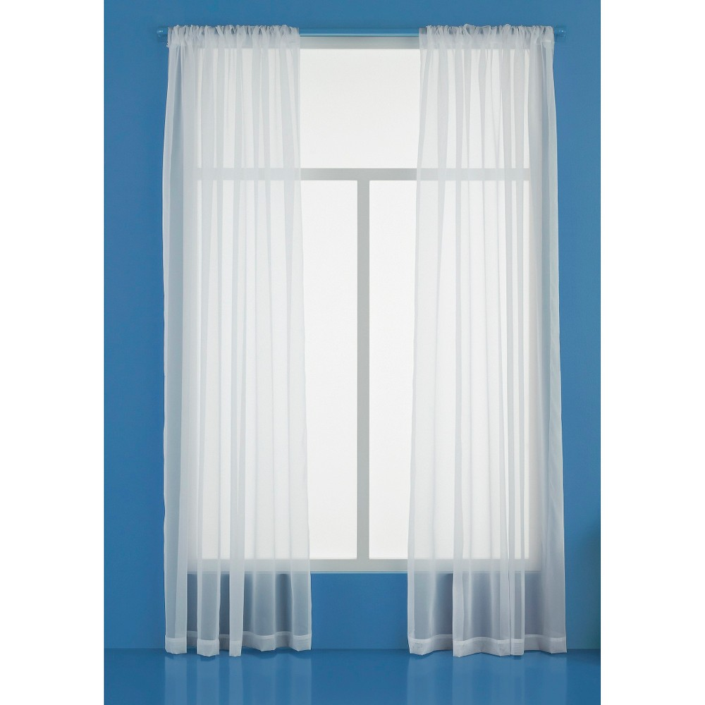 60 X84 Sheer Window Curtain Panels White Room Essentials 8482