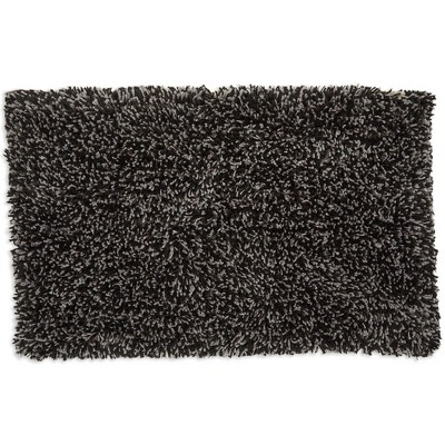 Juvale Non-Slip Bathroom Rug for Showers, Dark Grey Bath Mat (32 x 20 Inches)