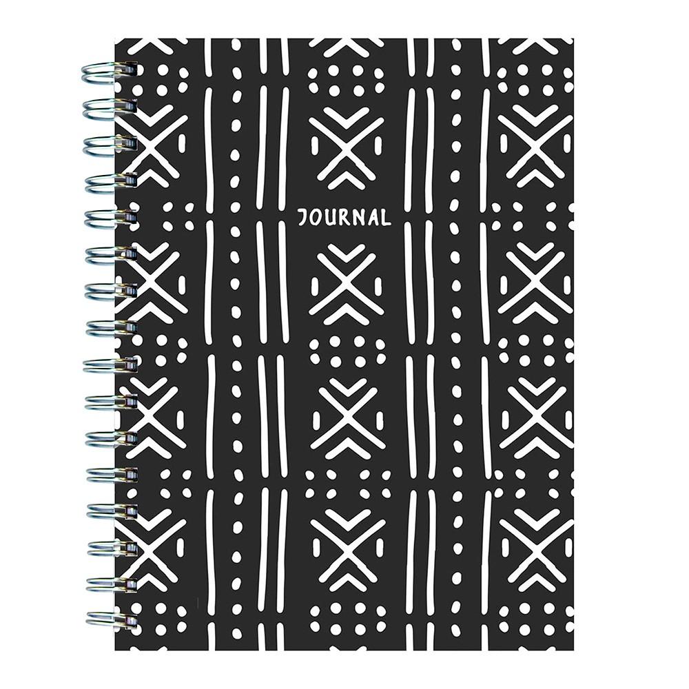 Lined Journal Black & White Pattern - TF Publishing