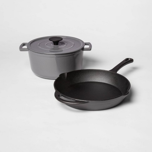 Pre Seasoned Cast Iron Skillet And