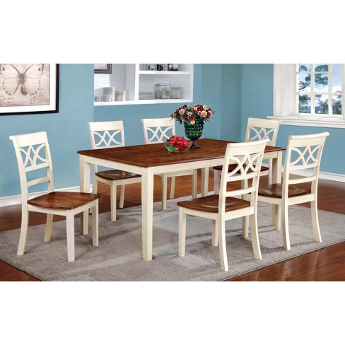 Iohomes Country Style Dining Table Woodvintage White And Oak Target