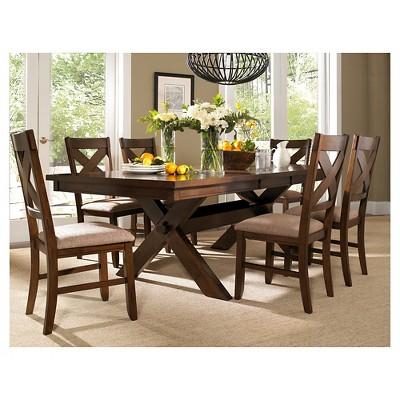 7pc Jackson Extendable Dining Table Set Dark Hazelnut - Powell Company