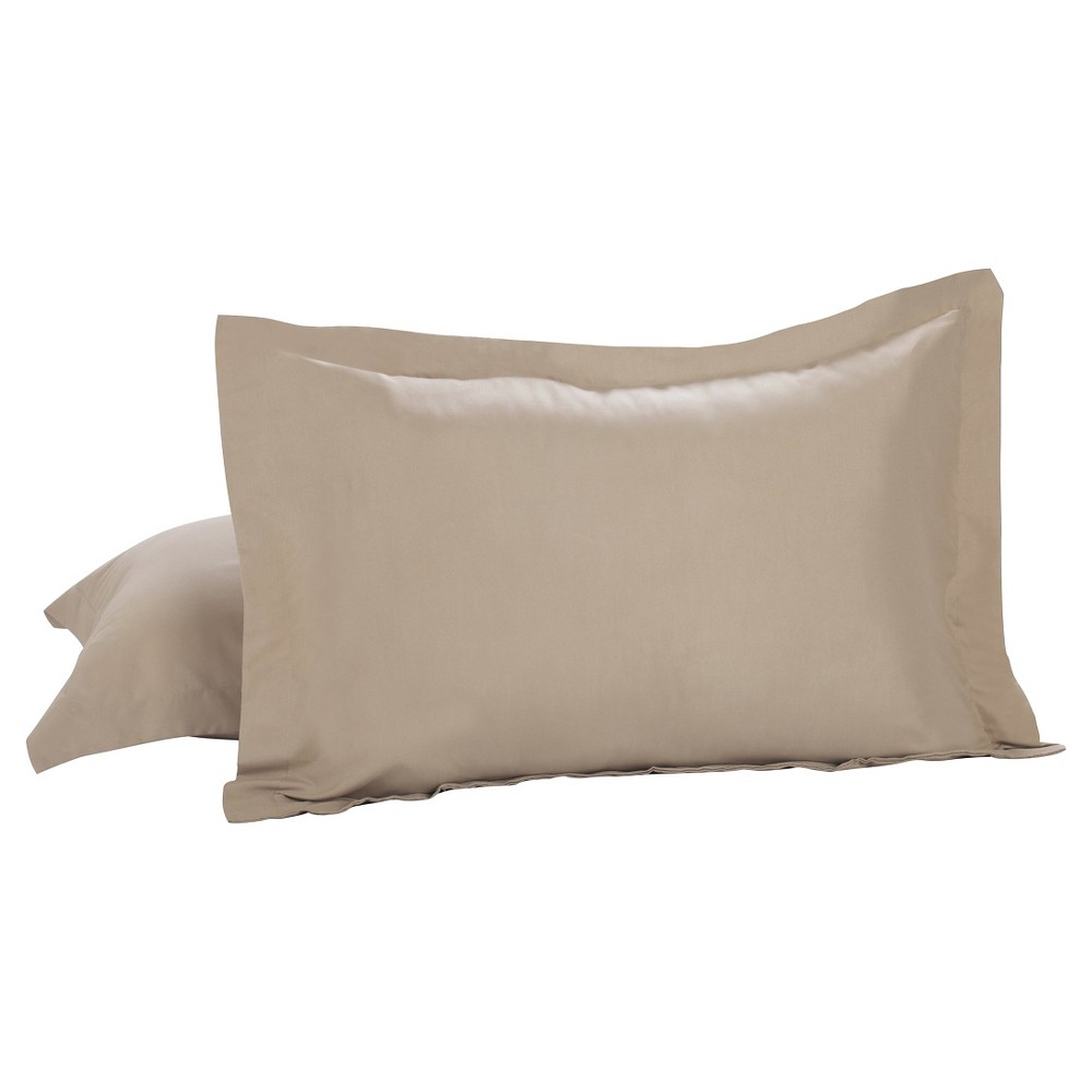 Image of Luxury Hotel 2 Pack Standard Shams, Brown