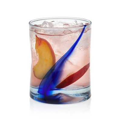 Libbey Blue Ribbon Impressions Rocks Glasses 11.75oz - 8pc Set