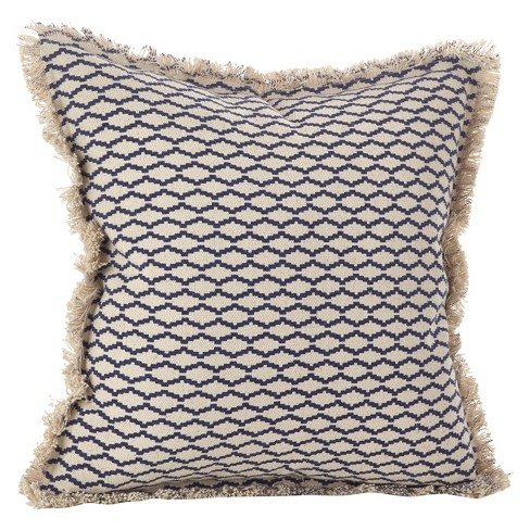 20 X20 Canberra Fringed Moroccan Throw Pillow Navy Saro Lifestyle Target