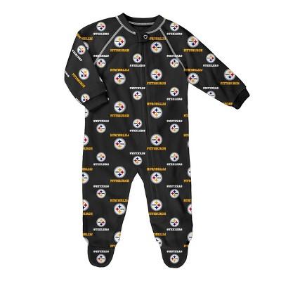 NFL Pittsburgh Steelers Baby Boys' Blanket Sleeper - 3-6M