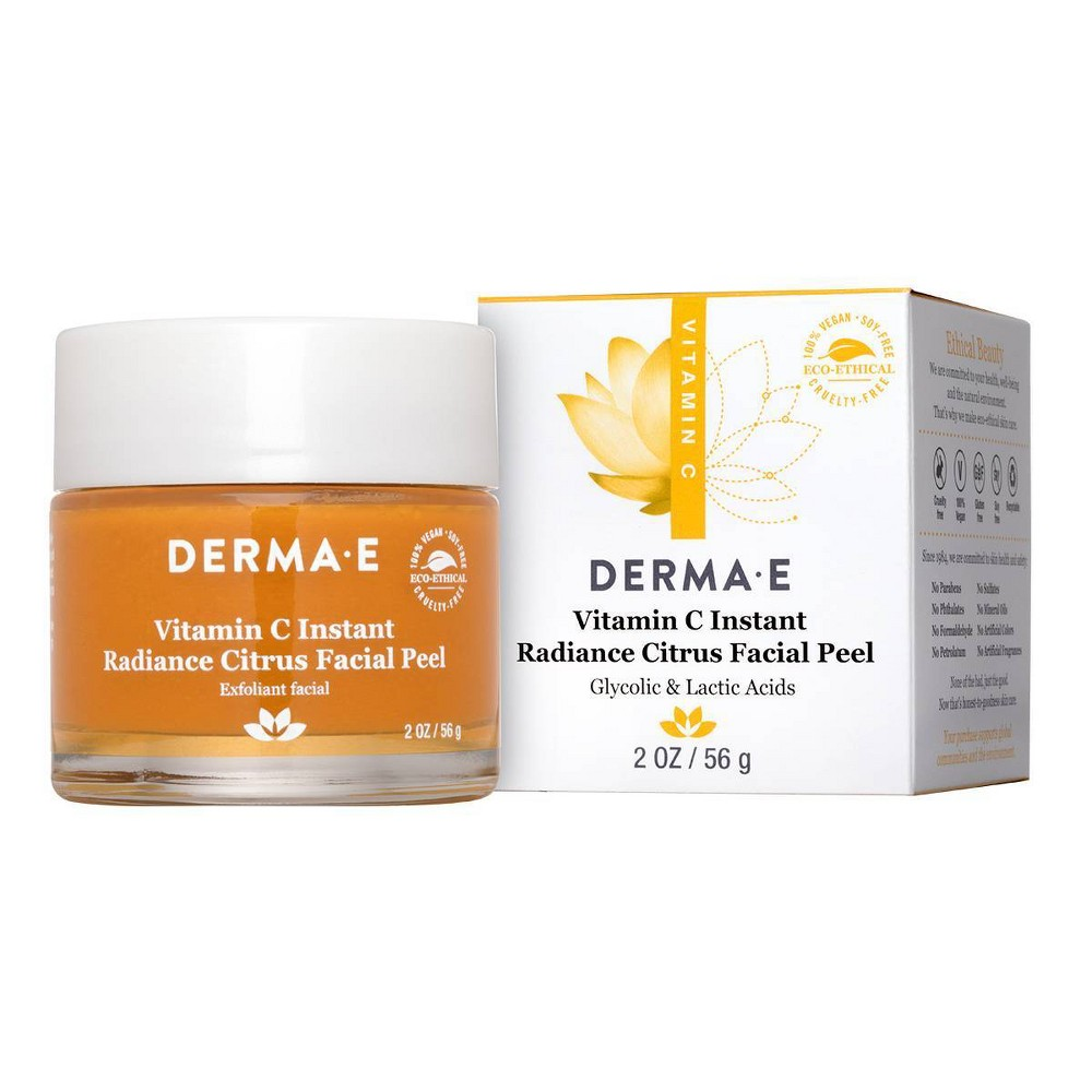 Image of DERMA E Vitamin C Instant Radiance Citrus Facial Peel - 2oz