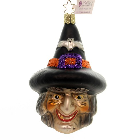 """Inge Glas 4.5"""" Casting Spells Ornament Halloween Witch - image 1 of 2"""