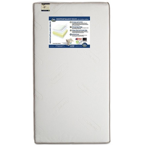 Serta Nightstar Balance Deluxe Firmer Edge Crib & Toddler Mattress - Beige - image 1 of 4
