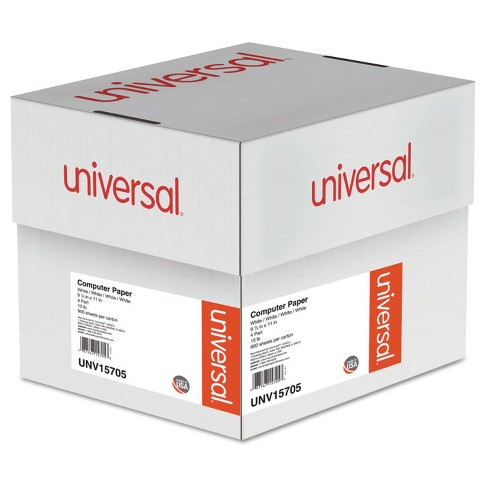 """Universal® 4-Part Carbonless Paper, 15lb, 9.5 x 11"""", Perforated, 900pgs - White - image 1 of 1"""