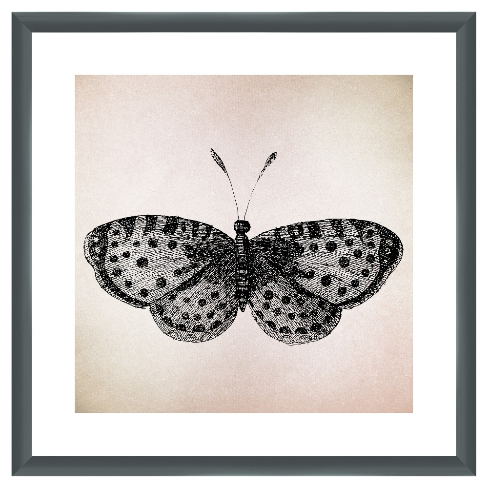 Vintage Insects Iii 18X18 Wall Art, Multi-Colored