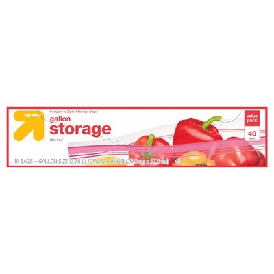 Gallon Storage Bags - 40ct - Up&Up™ (Compare to Ziploc® Storage Bags)