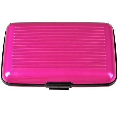 Zodaca Pink Business Aluminum ID Credit Card Wallet Case Holder Metal Box Pocket