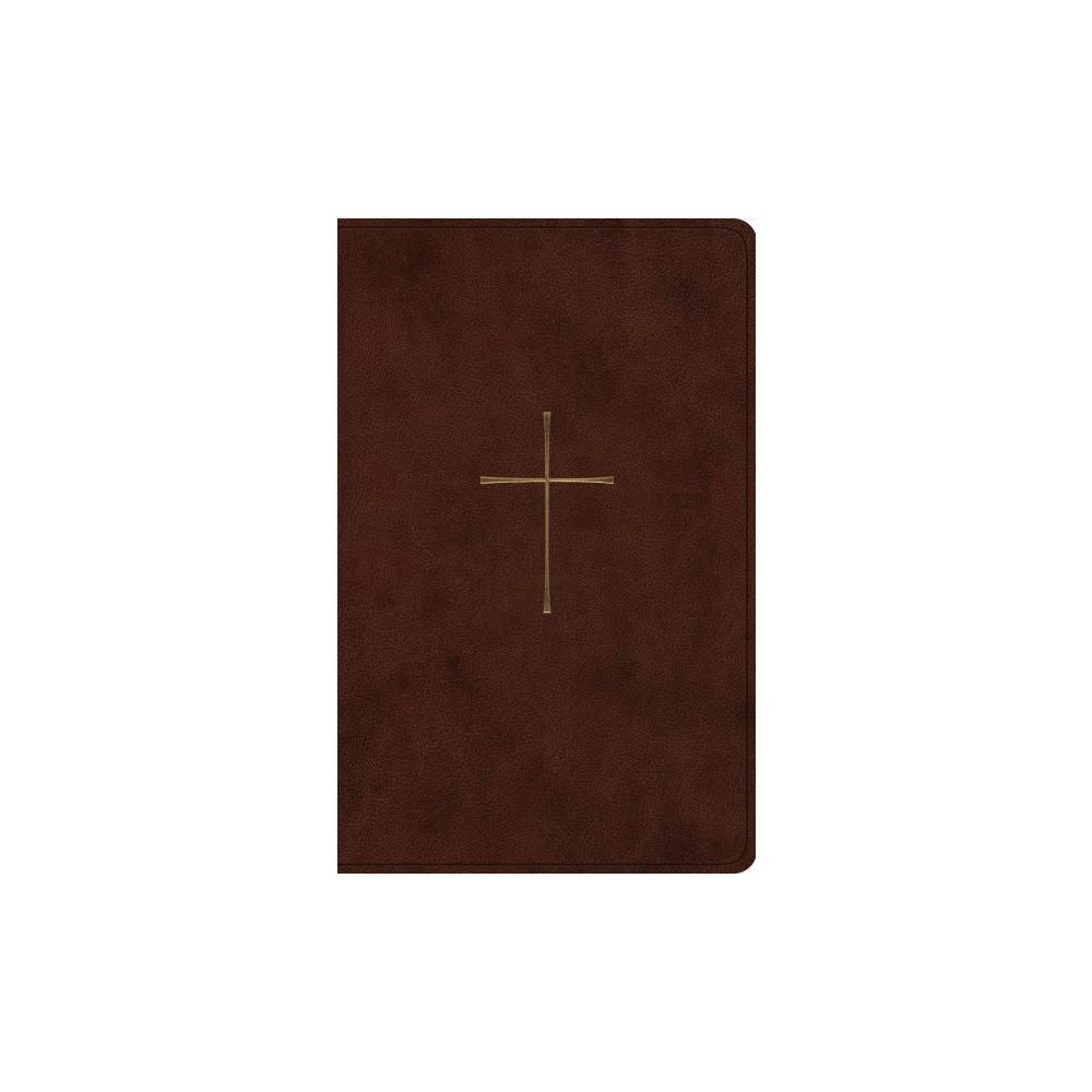 Holy Bible : Esv Premium Gift, Trutone, Brown, Cross Design - (Paperback)