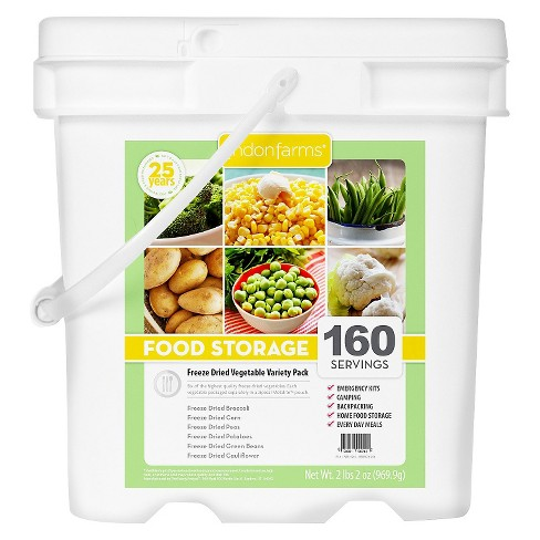 Lindon Farms Emergency Food 160-Serving Freeze Dried Vegetable Variety Food Storage Pail - image 1 of 2