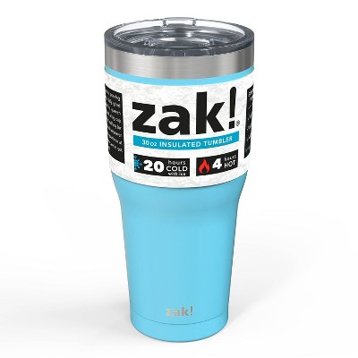 Zak! Designs 30oz Double Wall Stainless Steel Cascadia Tumbler - Purist Blue