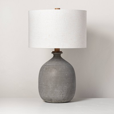 Resin Table Lamp Gray - Hearth & Hand™ with Magnolia