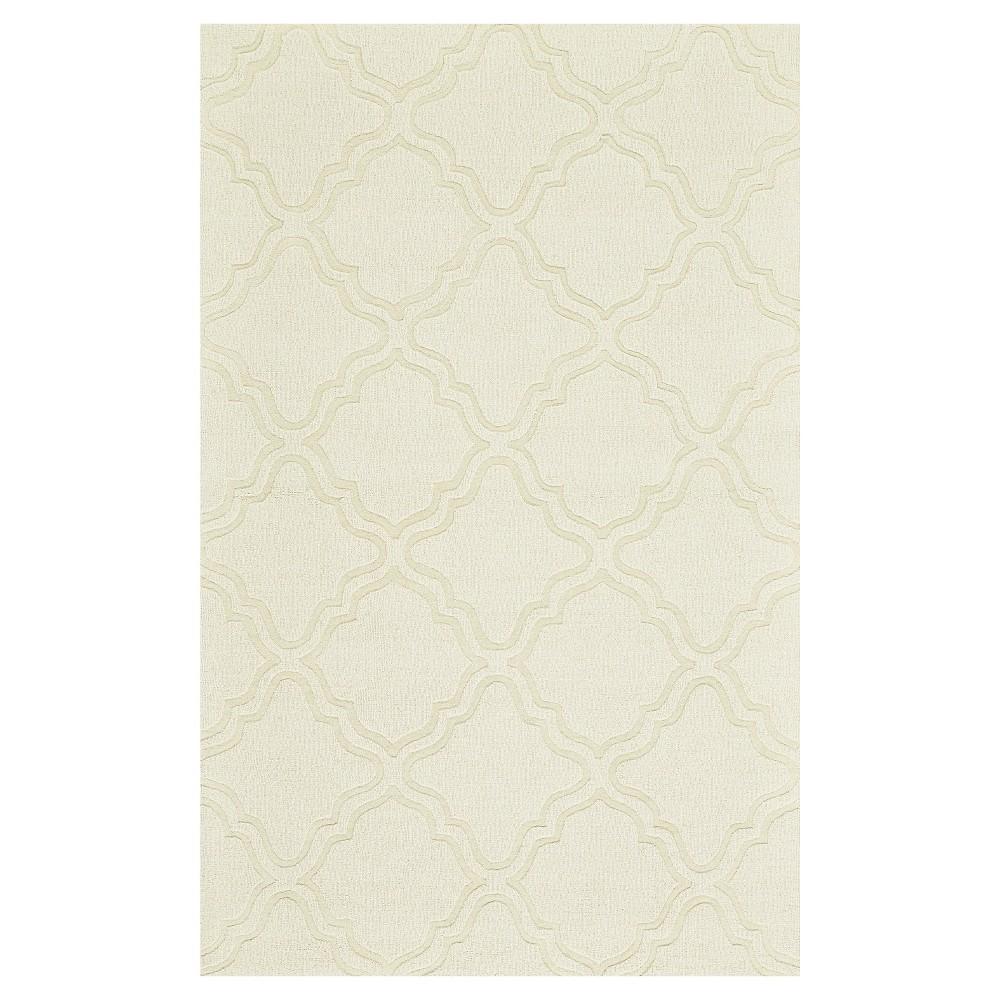 8'X11' Geometric Woven Area Rugs Ivory - Room Envy, White