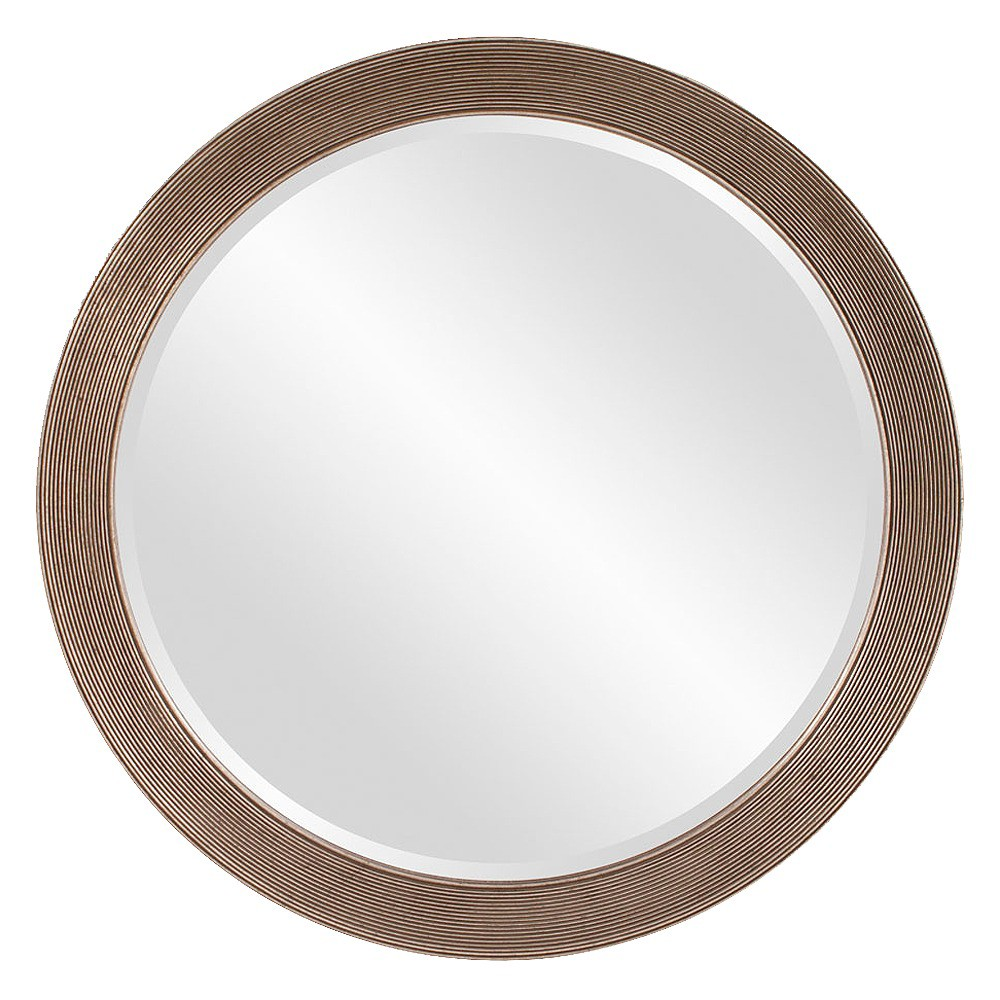 Round Virginia Decorative Wall Mirror - Howard Elliott, Medium Silver