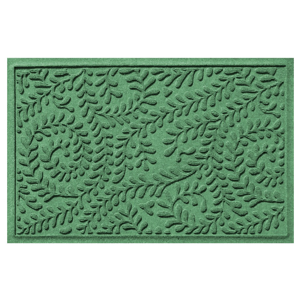 Light Green Botanical Doormat - (2'X3') - Bungalow Flooring