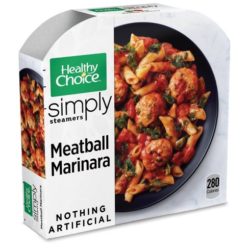 Healthy Choice Simply Steamers Frozen Meatball Marinara - 10oz - image 1 of 3