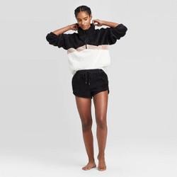Women's Cozy Sherpa Lounge Shorts - Colsie™ Black