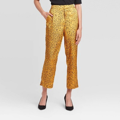Women's Animal Print Mid Rise Cropped Trouser   Who What Wear™ by Who What Wear
