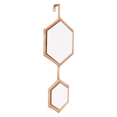 ZM Home 23  Modern Hexagonal Mirror Gold