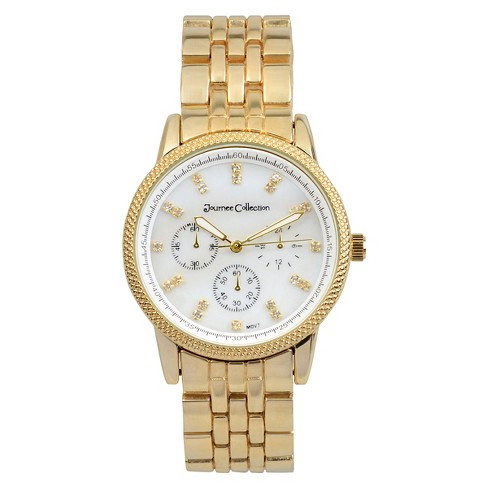 Women's Journee Collection Classic Round Face Link Watch - image 1 of 2