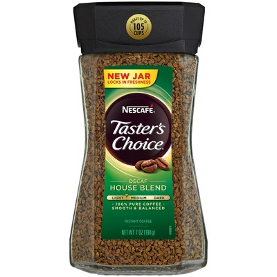 Nescafe Taster's Choice Decaf House Blend Instant Coffee, 7 Ounce