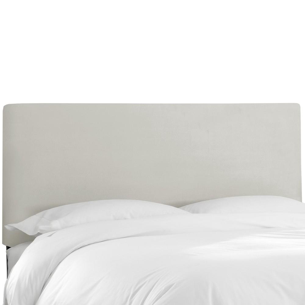 Queen Olivia Upholstered Headboard Light Gray Velvet - Cloth & Co.