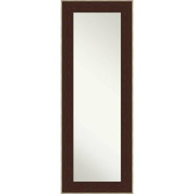 "20"" x 54"" William Framed Full Length on the Door Mirror Espresso Silver - Amanti Art"