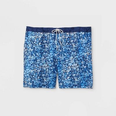 "Men's Big & Tall 9"" Kat Tropical Board Shorts - Goodfellow & Co™ Light Blue"