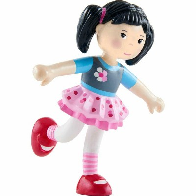 """HABA Little Friends Lara - 4"""" Bendy Doll Figure with Black Pigtails"""