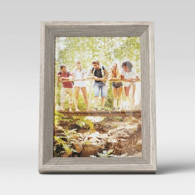 "5"" x 7"" Wedge Picture Frame Gray - Room Essentials™"