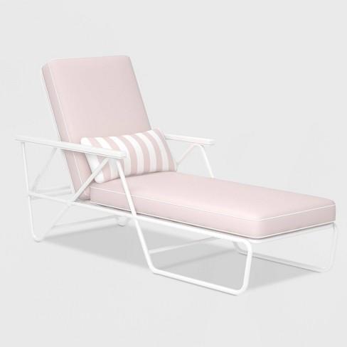 Patio Chaise Lounge Pink Novogratz