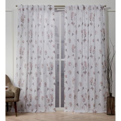 La Petite Fleur Back Tab Light Filtering Window Curtain Panels - Nicole Miller - image 1 of 4