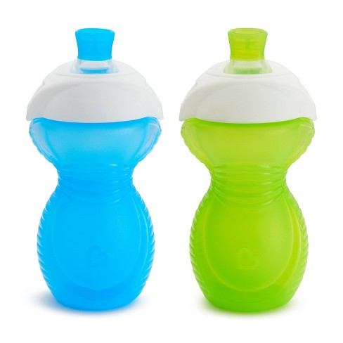 Munchkin Click Lock 9oz Bite Proof Soft Spout Sippy Cup – 2pk Blue/Green - image 1 of 4