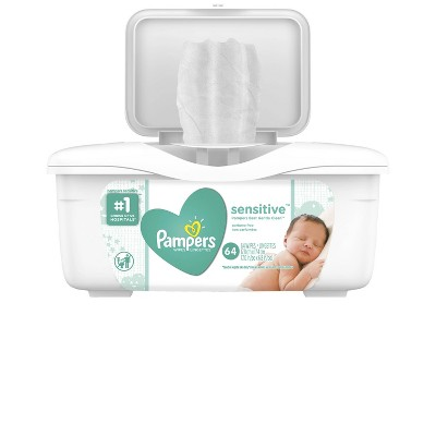 Pampers Baby Wipes Sensitive 64 ct