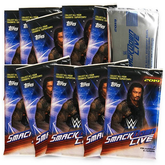 2019 WWE Smackdown Wrestling Trading Card Blaster Box image number null
