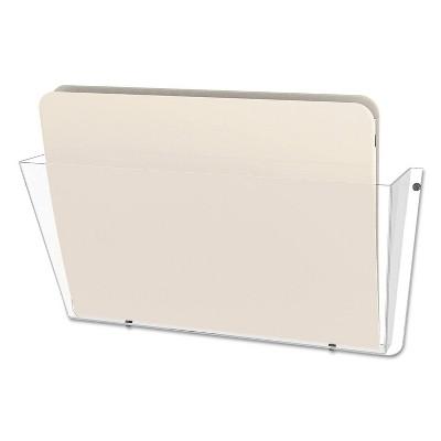 deflect-o Unbreakable Docupocket Single Pocket Wall File, Letter, Clear