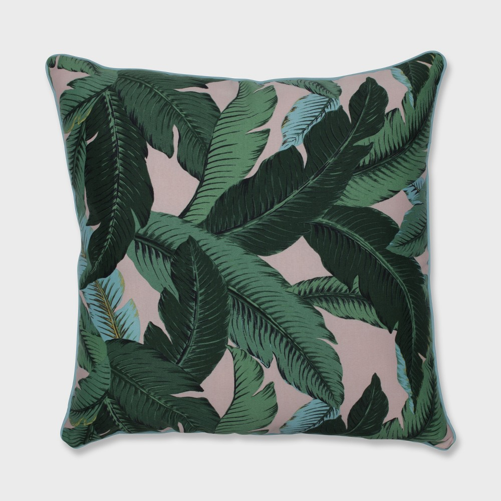 25 Swaying Palms Outdoor Floor Pillow Capri Blue - Pillow Perfect