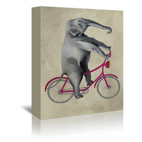 Americanflat Elephant On Bicycle By Coco De Paris 24 X36 Target