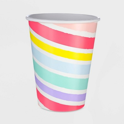 10ct 12oz Striped Pastel Paper Cup - Spritz™