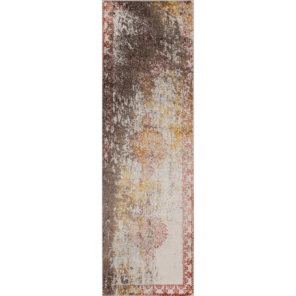 Best Shopping Rust Shapes Loomed Runner 23x76 Momeni Red