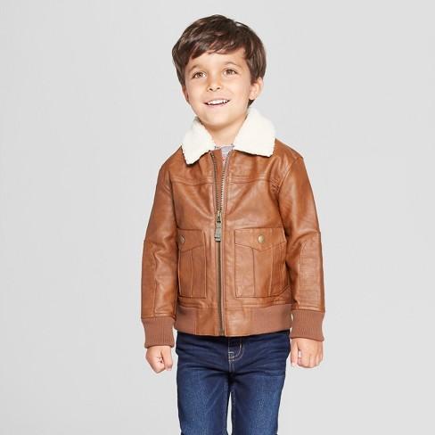 9533b309055a Genuine Kids® From OshKosh Toddler Boys  Aviator Bomber Jacket ...