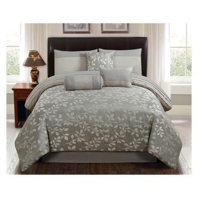 7pc Selvy Comforter Set Silver - Riverbrook Home